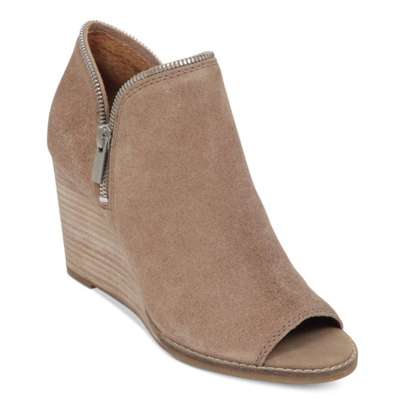 Lucky Brand Shoes | Peep Toe Wedges
